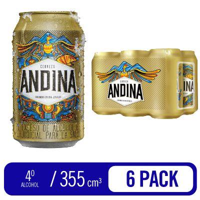Cerveza Andina Sixpack Lata x 355 ml c.u - ANDINA